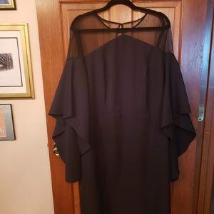 Eloquii Scuba Bell Sleeve Dress